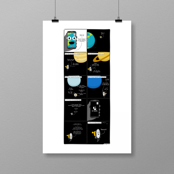 A little satellite's journey - print