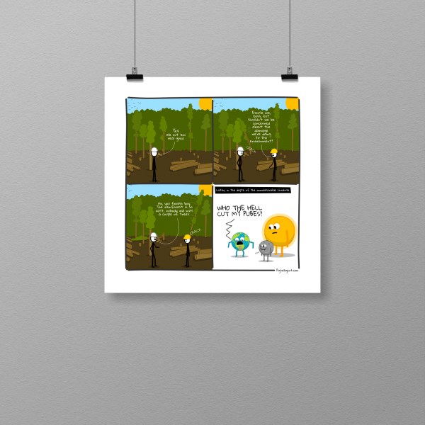 Awkward deforestation - print