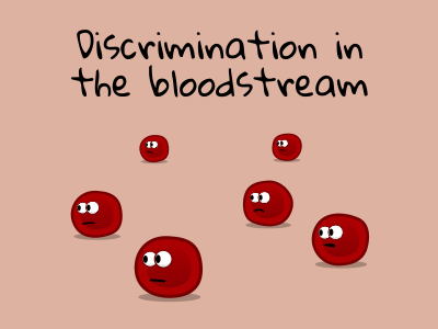 Discrimination in the bloodstream