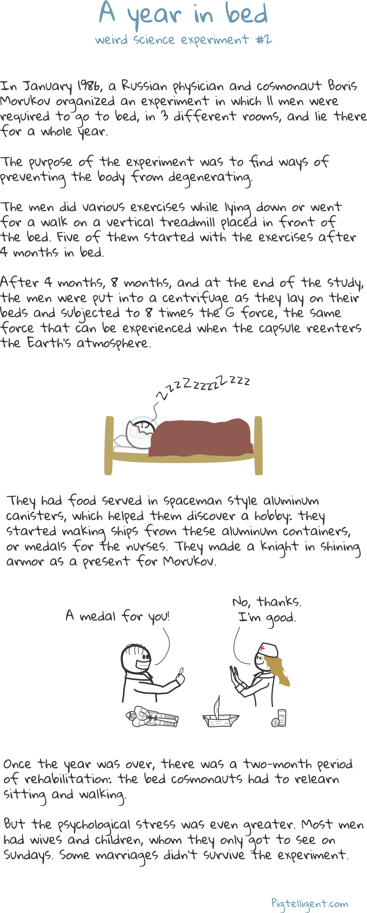 A year in bed - weird science experiment no. 2