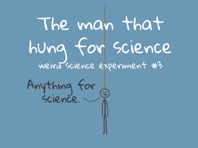The man that hung for science – weird science experiment no. 3