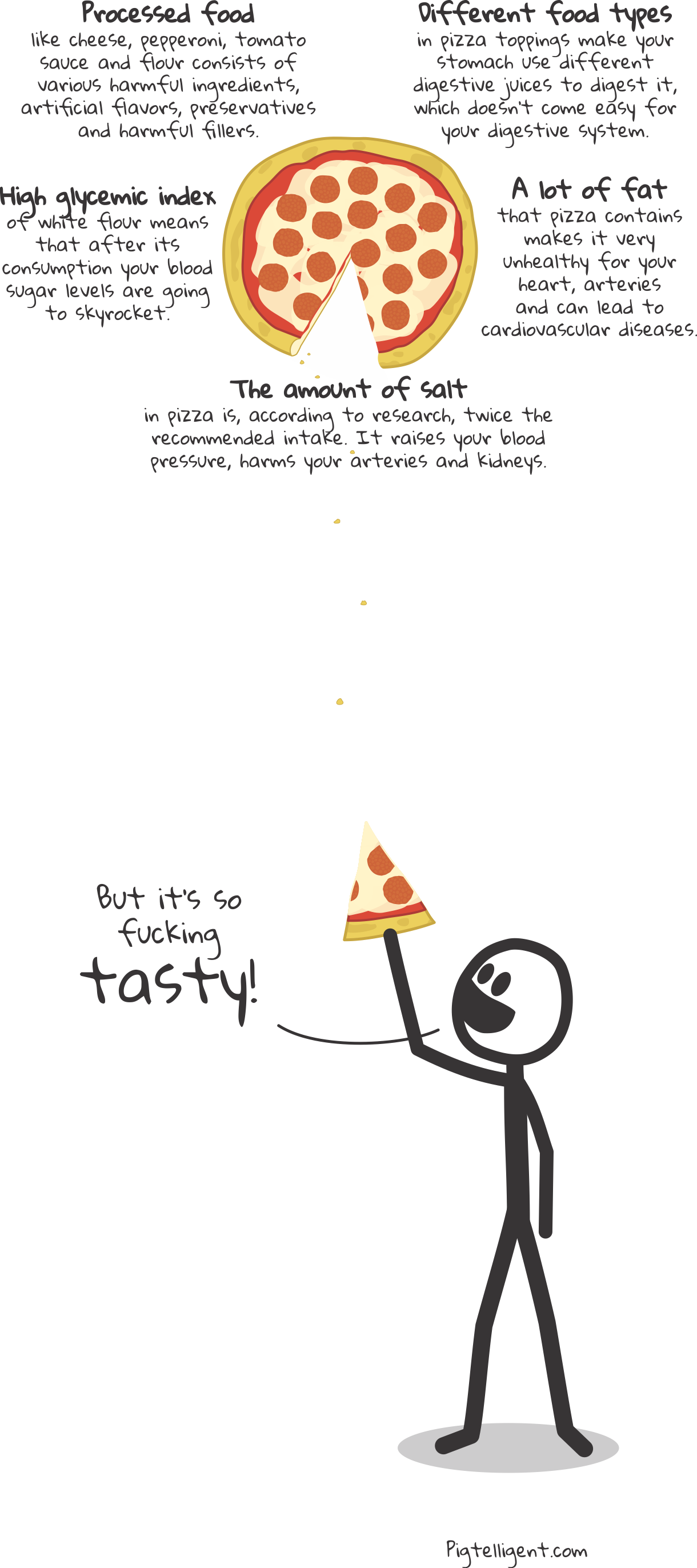 This is why you shouldn't eat pizza