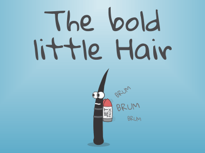 The bold little Hair