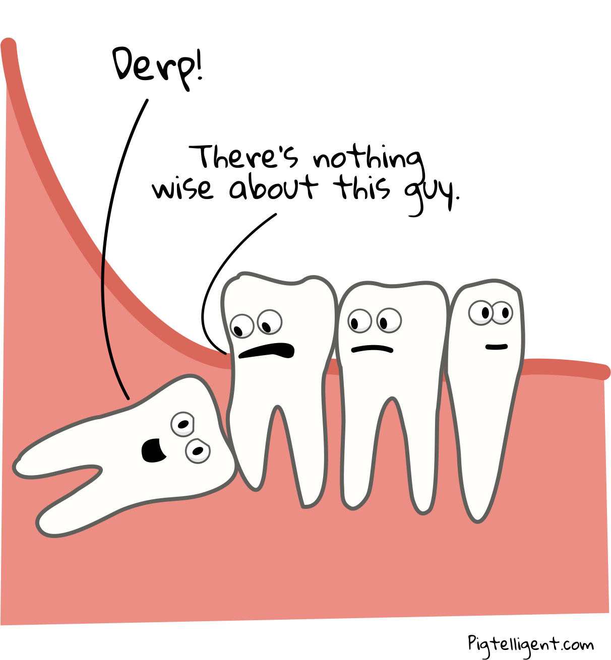 The way of a wisdom tooth