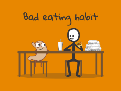 Bad eating habit