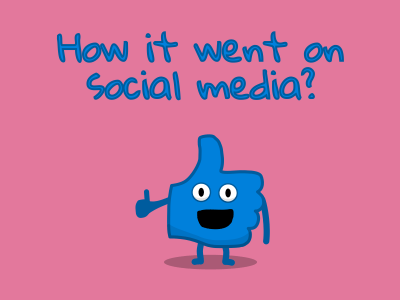 How it went on social media