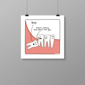 The way of a wisdom tooth - print